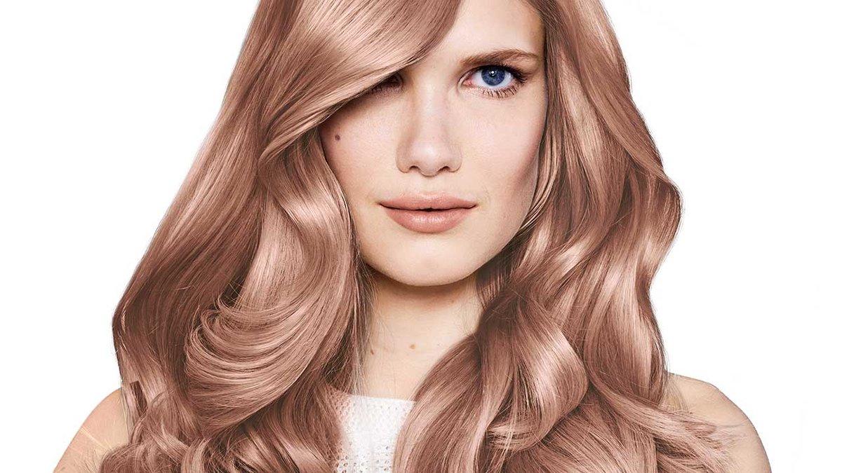 Бежево перламутровый цвет волос