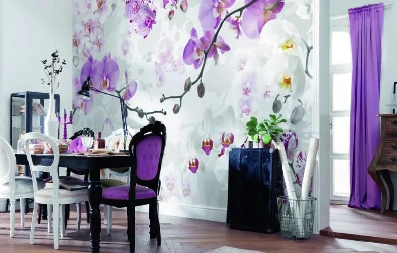 Дизайн стены возле стола на кухне 50 фото полки фотообои и картины над обеденным столом Чем еще можно украсить стену