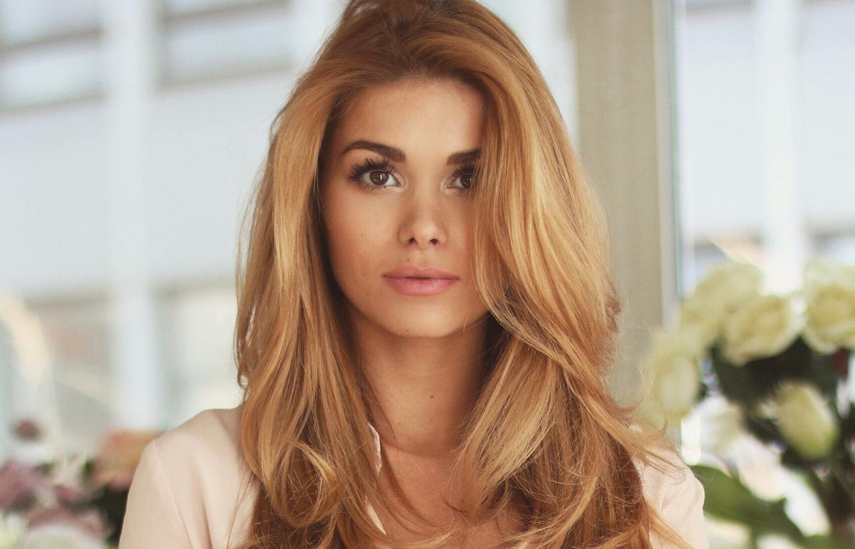 Карамельный блонд: результат окрашивания волос краской