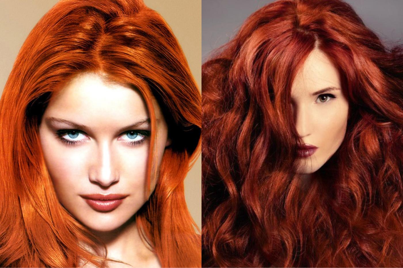 Краска для волос с рыжим оттенком
