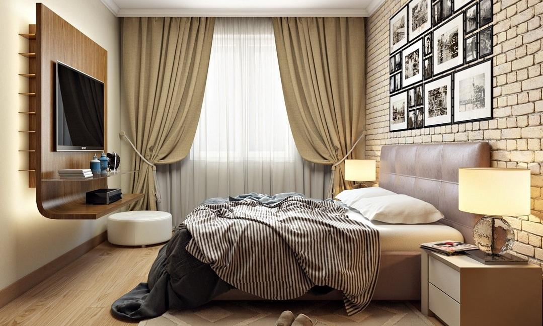 Дизайн спальни фото с двумя окнами трудилась официанткой