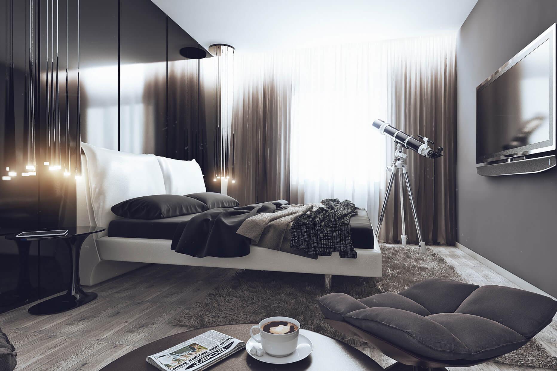 для дизайн комнаты для мужчины фото растительность сосредоточена
