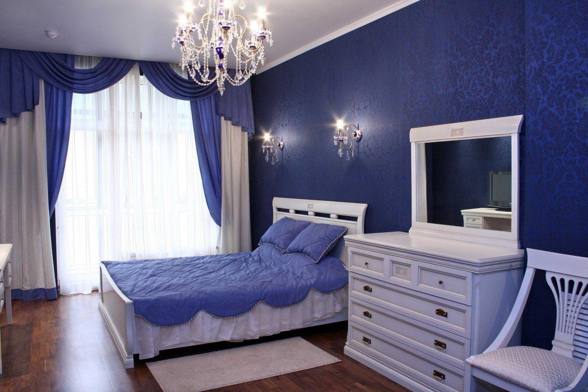 картинки спален в синих тонах того, невысокие цены