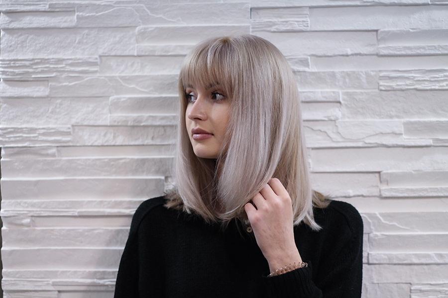 Жемчужный блонд цвет волос