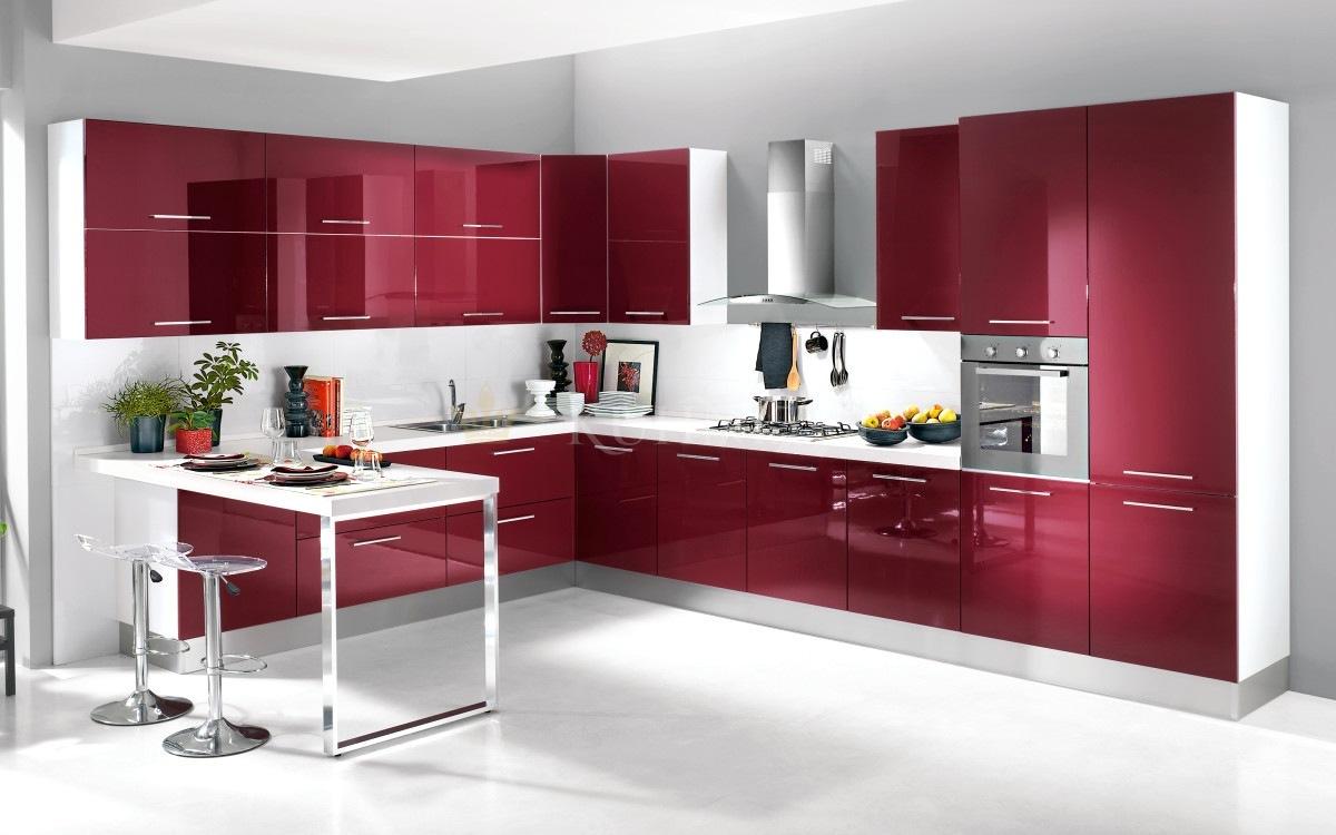 тем, что кухни вишневого цвета фото отличие других