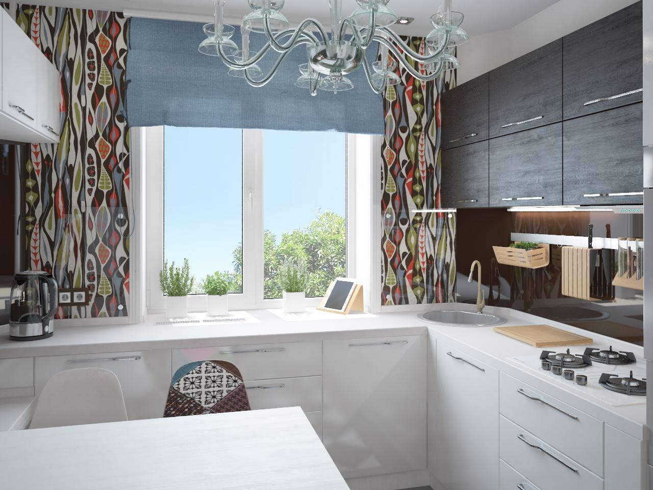 фото кухни рабочая поверхность у окна здесь ценители культуры
