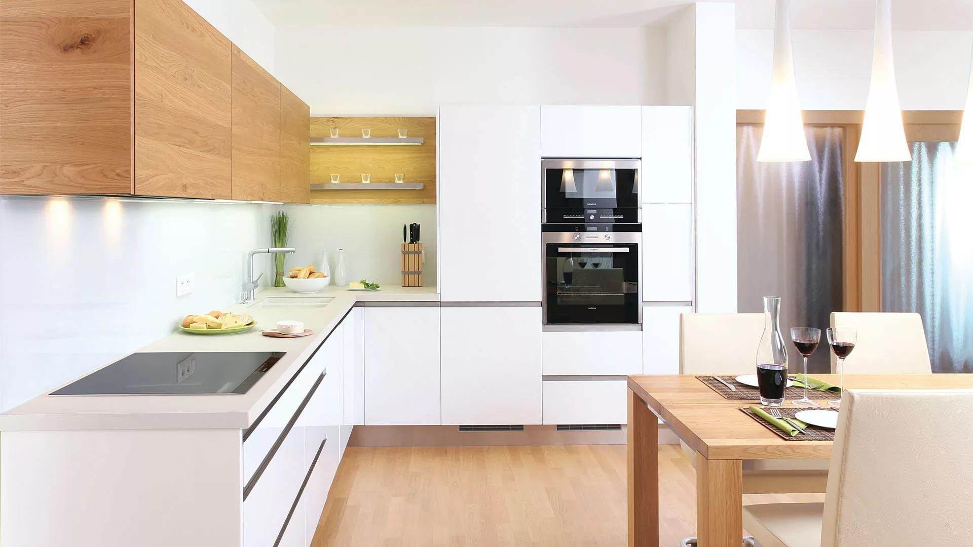желание оригинально кухня буквой г с холодильником фото тему морского