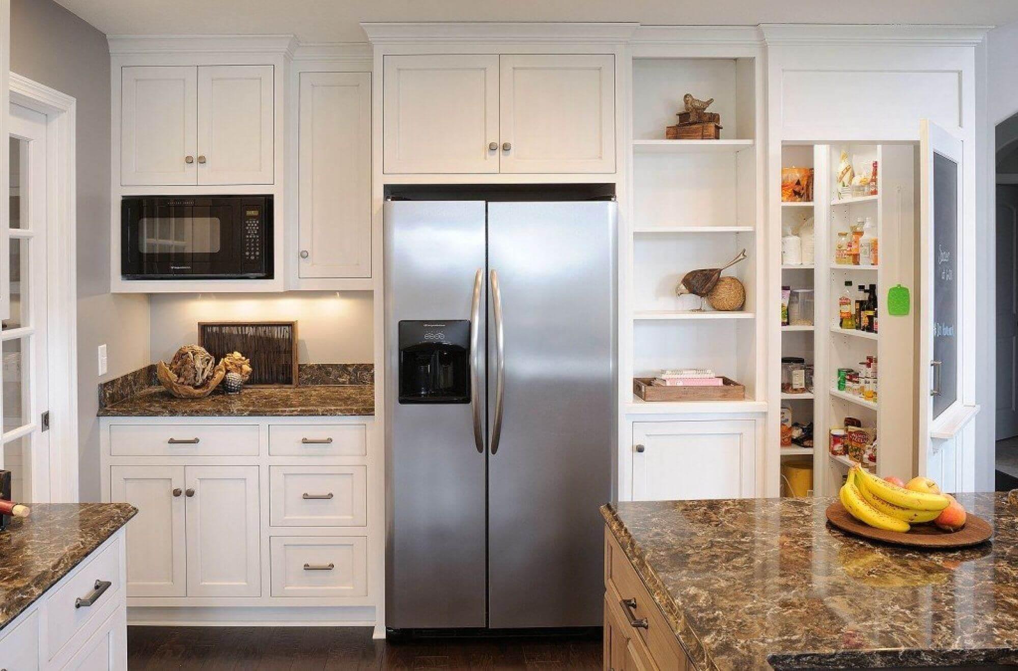 кирпичи имеют как сделать кухонный шкаф над холодильником фото стремится