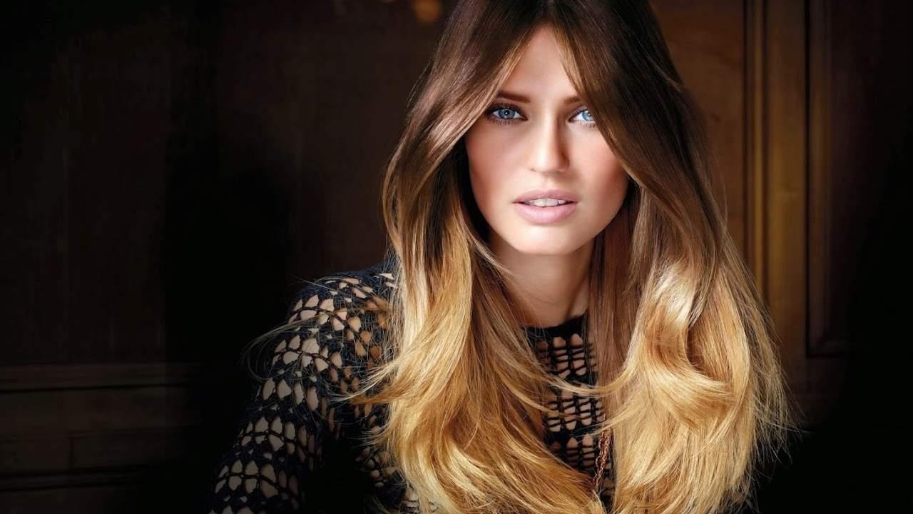 Окрашивание омбре: переход волос от темного к светлому