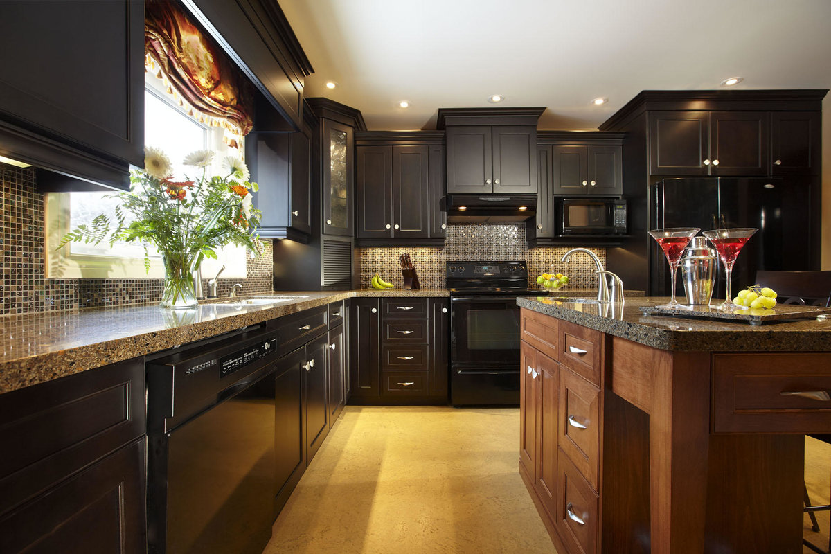 Картинка на темную кухню