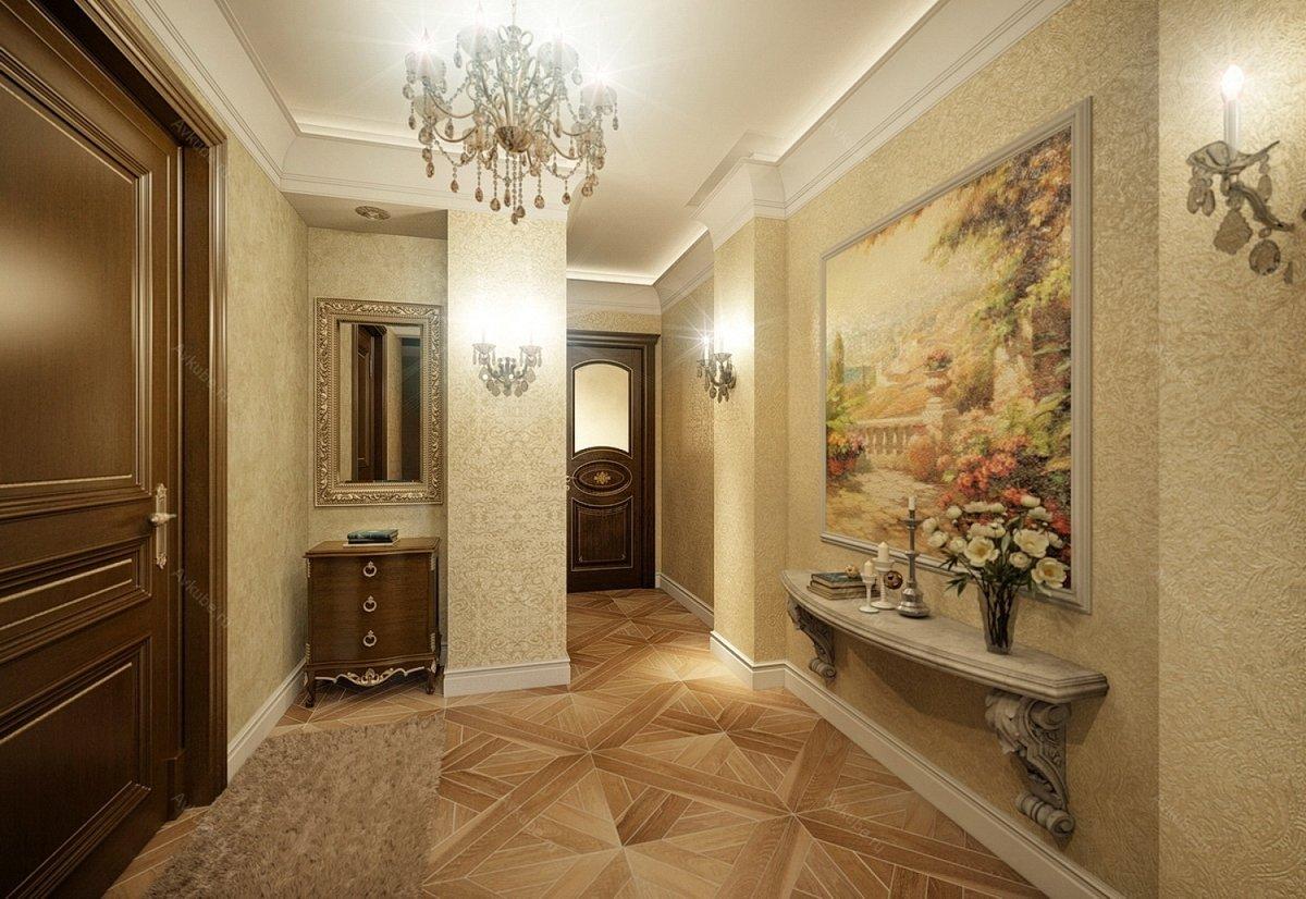 специализированных строительных обои для оформление коридора в квартире фото можно