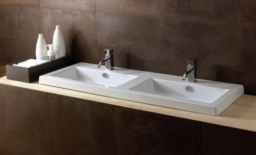 Модная и практичная раковина встраиваемая в столешницу в ванной