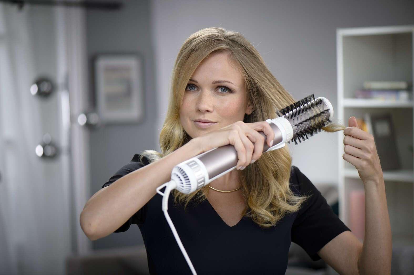 Фен-щетка (43 фото): для чего нужна вращающаяся насадка-расческа? Какой фен для укладки волос лучше выбрать? Как им пользоваться? Отзывы