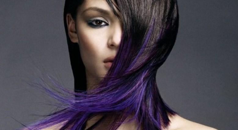 Бело фиолетовый цвет волос