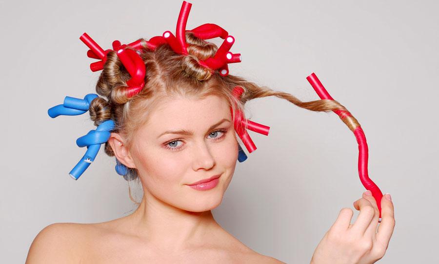 Накрутить волосы средней длины на бигуди