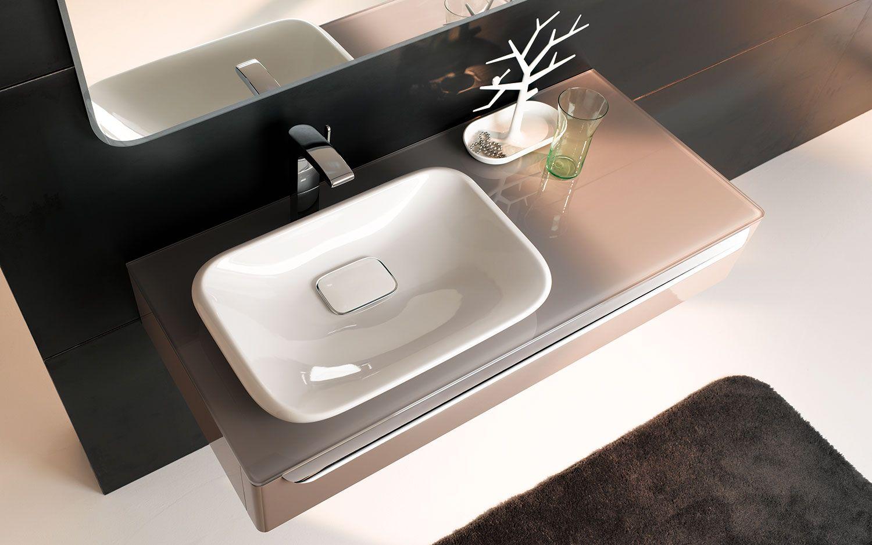 Двойная раковина умывальник для ванной комнаты из нержавейки и керамический какие размеры бывают - ширина 120 и 130 см