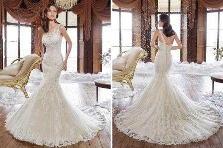 Свадебное платье с одной ассиметричной бретелью