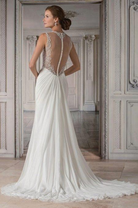 Свадебное платье с сеткой