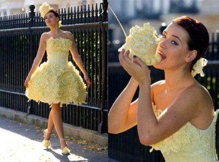 шоколадное свадебное платье