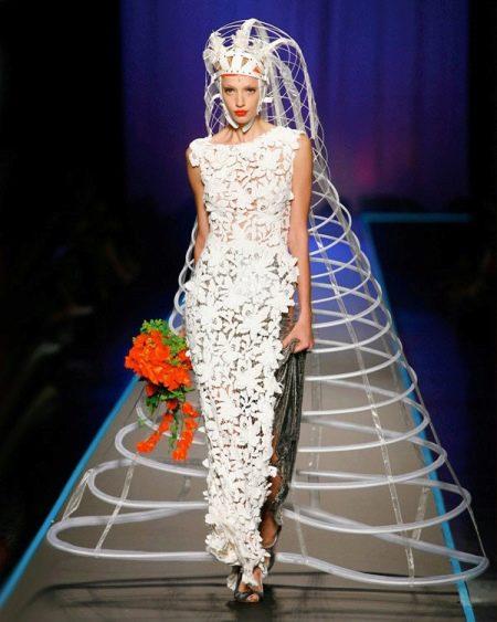 Свадебное платье-клетка