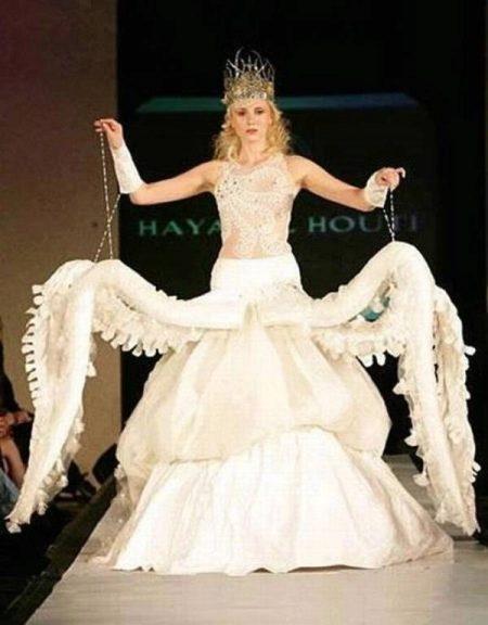 Свадебное платье осьминог