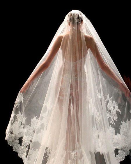Свадебное платье-фата прозрачное