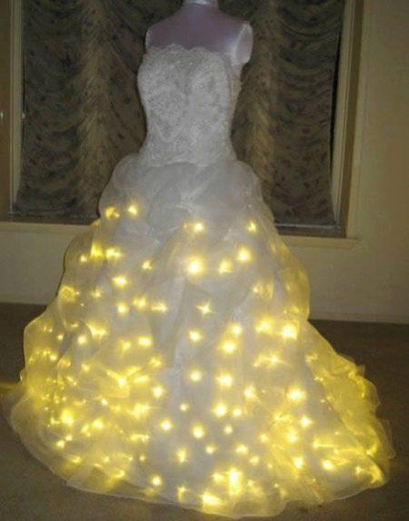 Свадебное платье с подсветкой