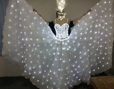 Свадебное платье со светодиодными лампочками