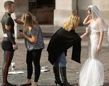 Рисование свадебных нарядов