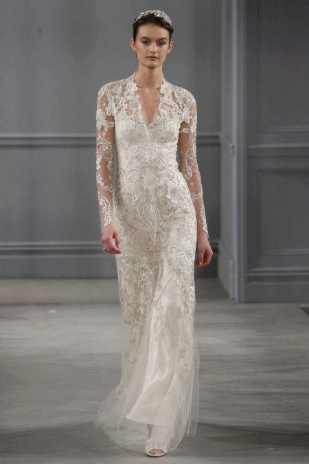 Свадебное кружевное платье от Моник Лульер