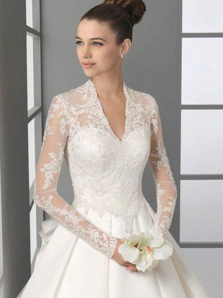 Длинные кружевные платья с длинным рукавом
