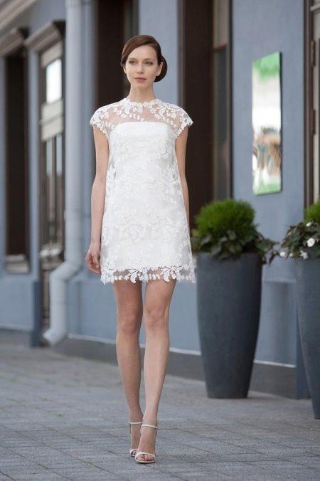 Кружевное свадебное платье с чехлом