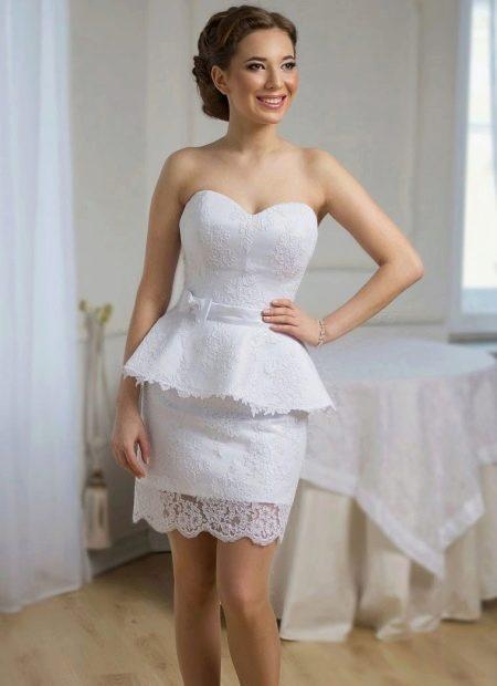 Короткое свадебное платье для беременных