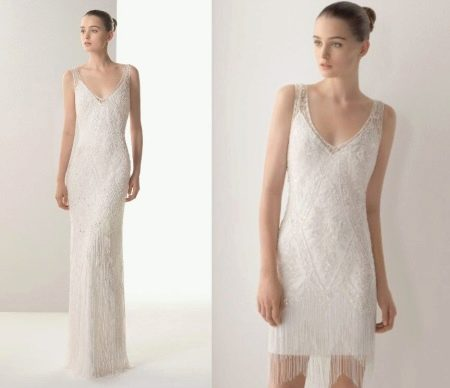 Летнее свадебное платье трансформер