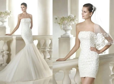 Летнее свадебное платье трансформер русалочка