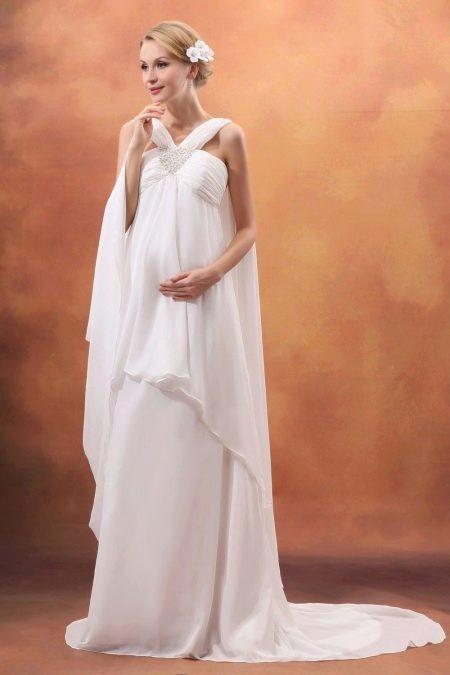 Свадебное платье для беременной в пол летнее