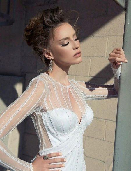 Свадебное платье с рукавами летнее