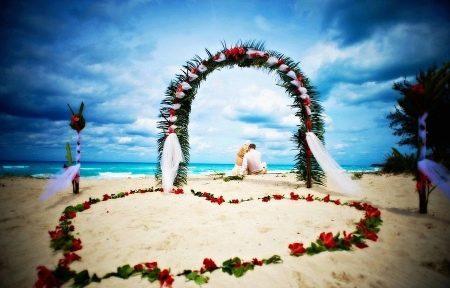 Возникновение пляжной свадьбы