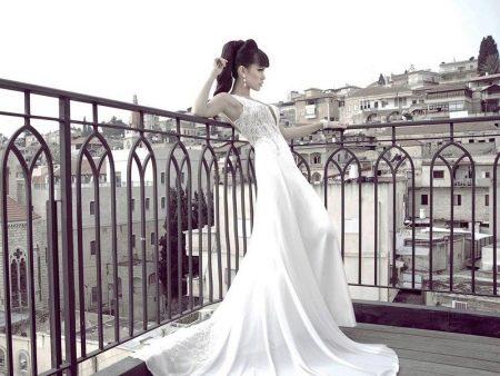 Свадебное сексуальное платье с кружевным верхом