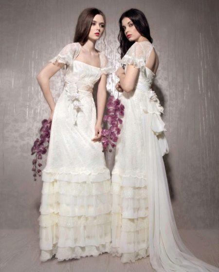 Свадебное платье в стиле Прованс с волонами
