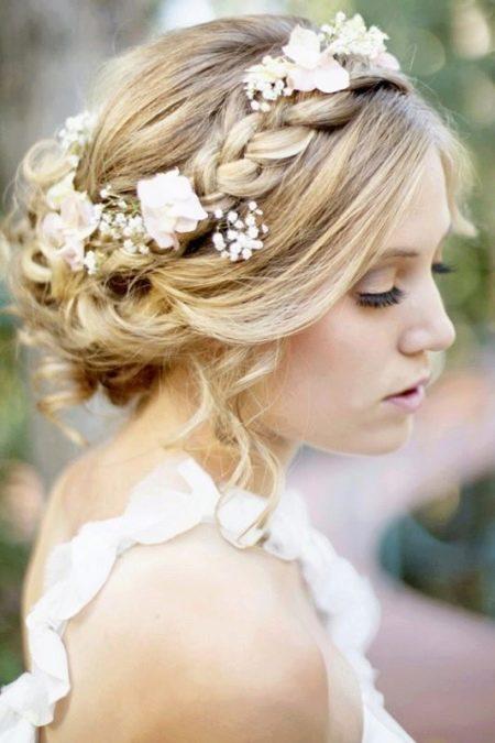 Прическа - свадьба прованс
