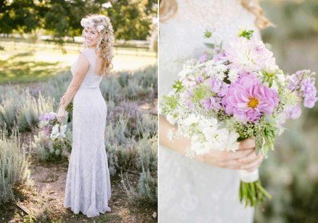 Образ невесты на лавандовой свадьбе