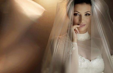 Свадебная фата для свадебного наряда