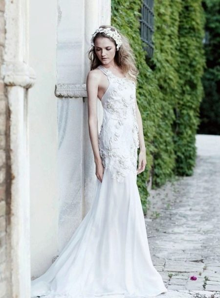 Белое свадебное платье для второго брака