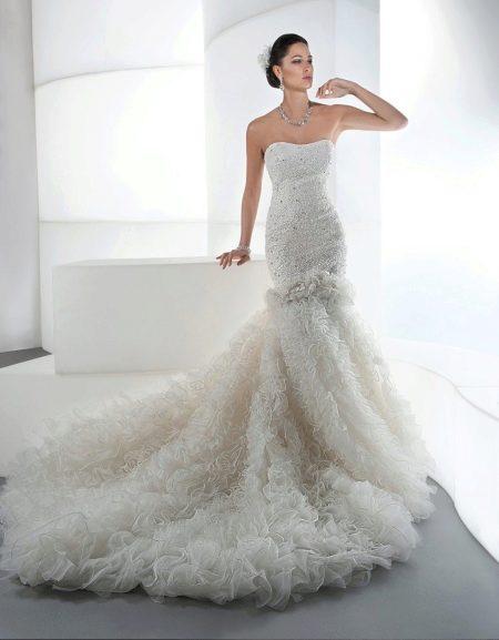 дорогое свадебное платье русалка