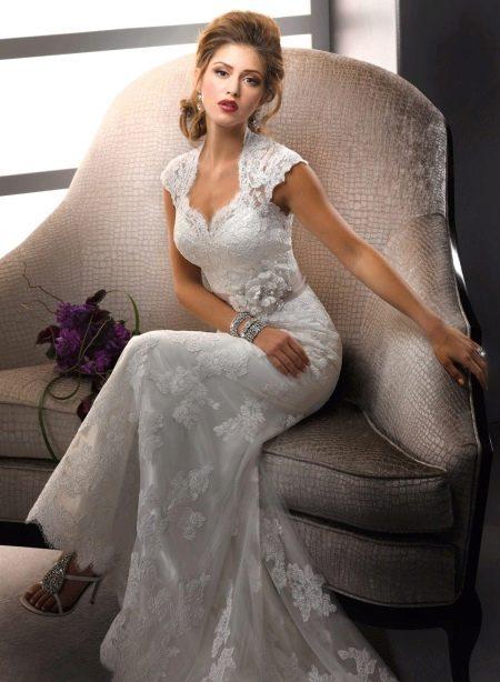 Свадебное кружевное платье Годе