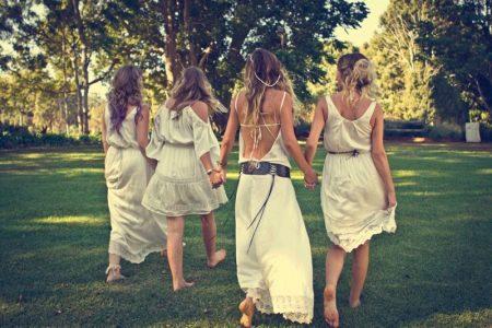 Обувь к свадебному платье в стиле бохо