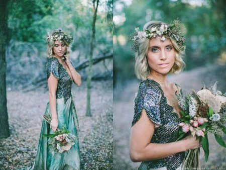 Богемный стиль свадебного платья