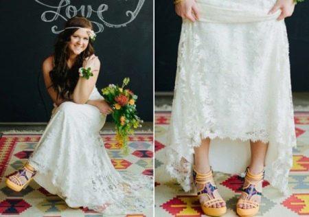 Обувь под свадебное платье бохо