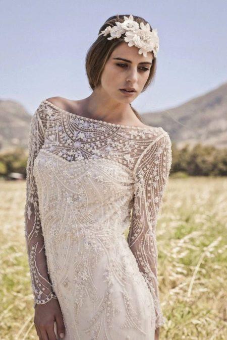 Виды свадебного платья в стиле богемном